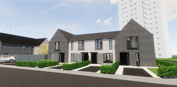 CGI images of our new affordable homes for rent on the former Hurdsfield Community Centre site.